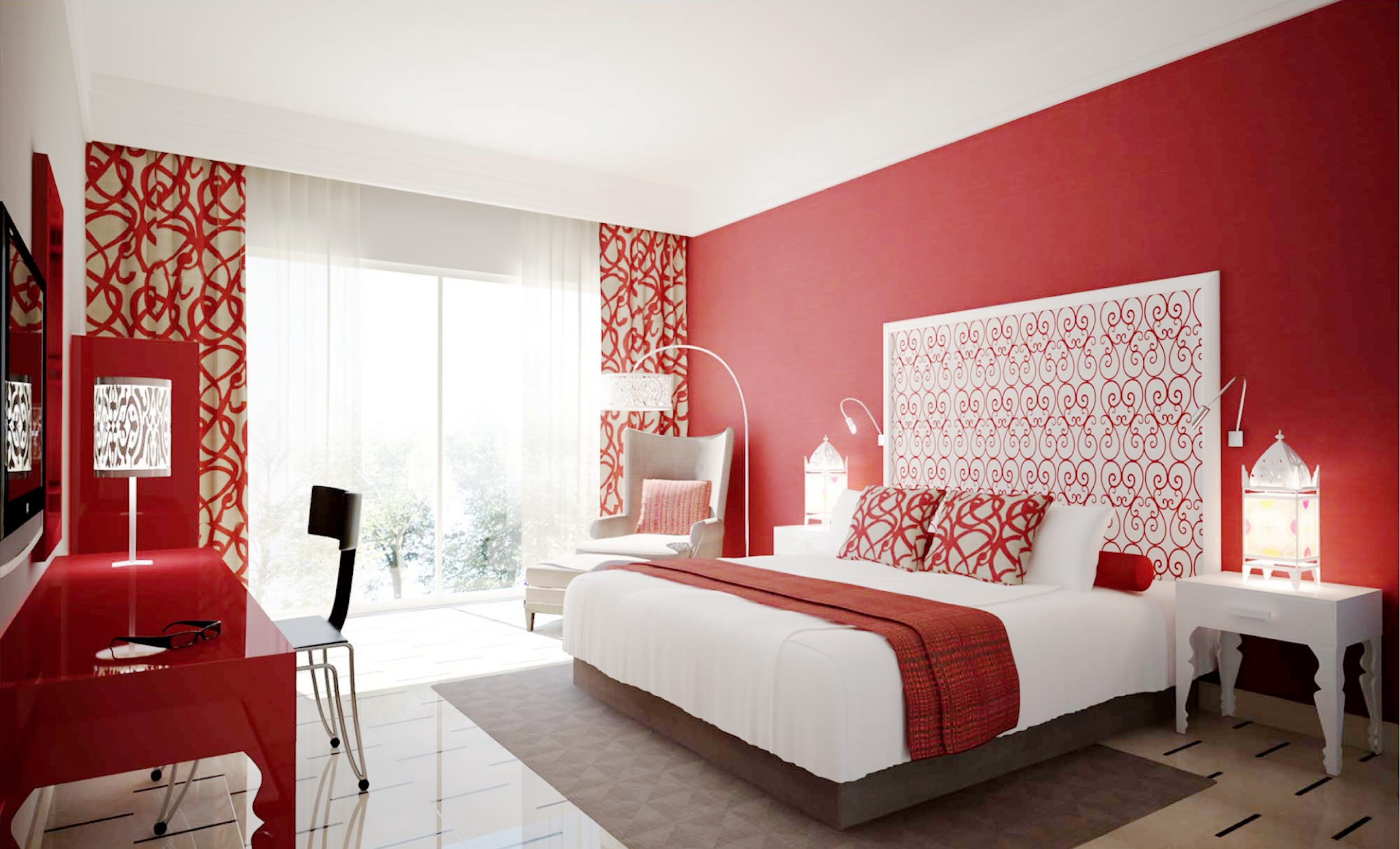 Red Painted Room Hawaii