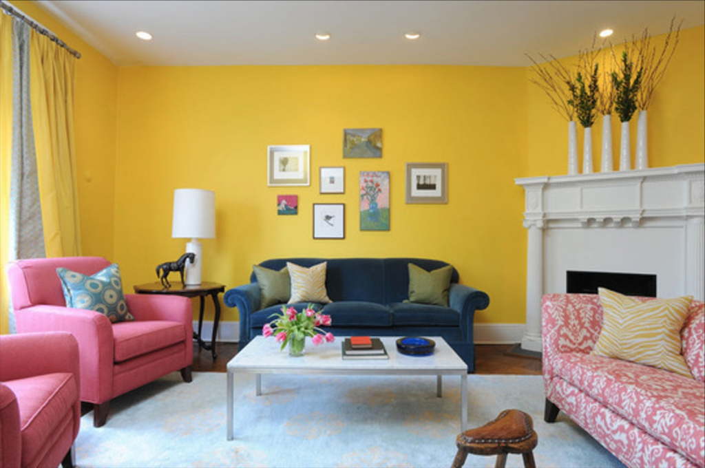 Yellow Painted Room Hawaii